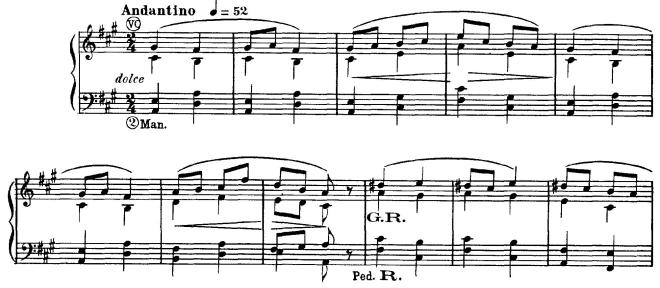 Vierne Berceuse melody